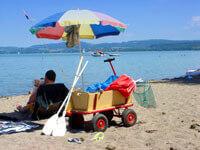 Bollerwagen am strand